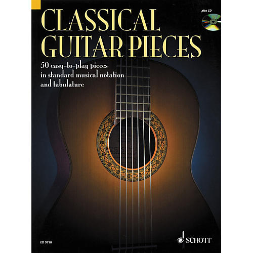 Schott Classical Guitar Pieces in Tab & Notation Book with CD thumbnail