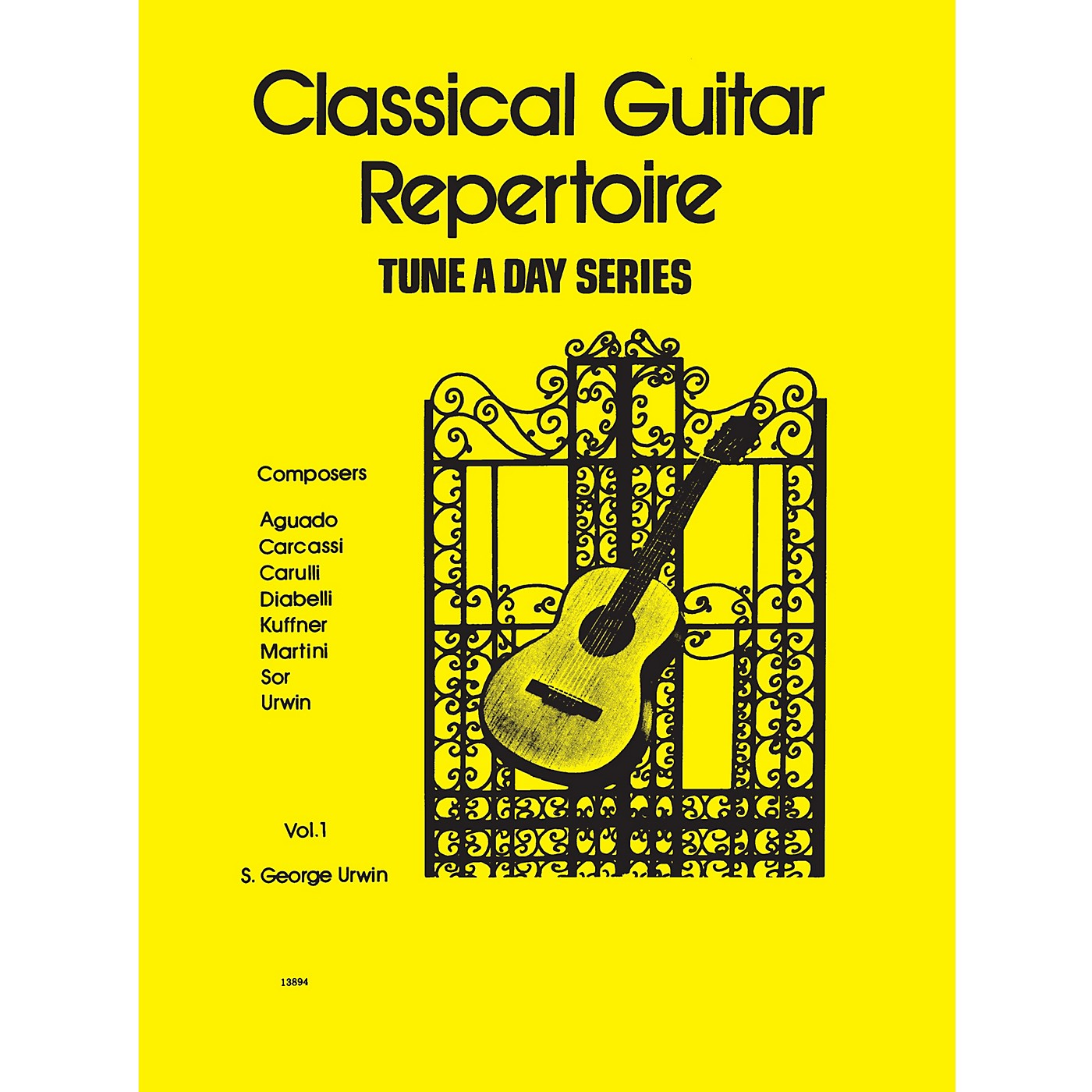 Hal Leonard Classical Guitar Repertoire (Tune a Day Series) Music Sales America Series Softcover thumbnail