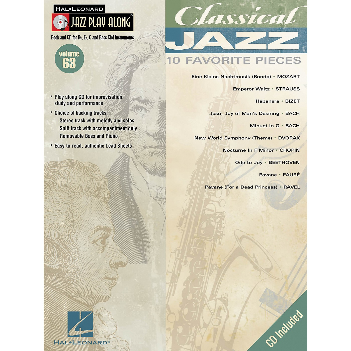 Hal Leonard Classical Jazz--Jazz Play Along Volume 63 Book with CD thumbnail
