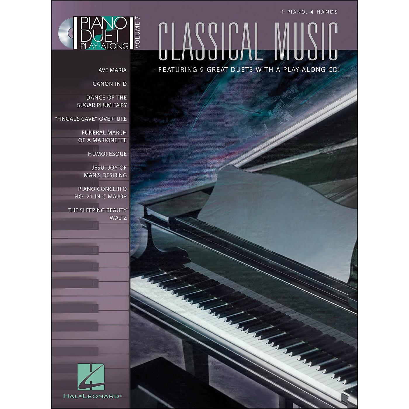 Hal Leonard Classical Music Duet Volume 7 Book/CD 1 Piano 4 Hands thumbnail