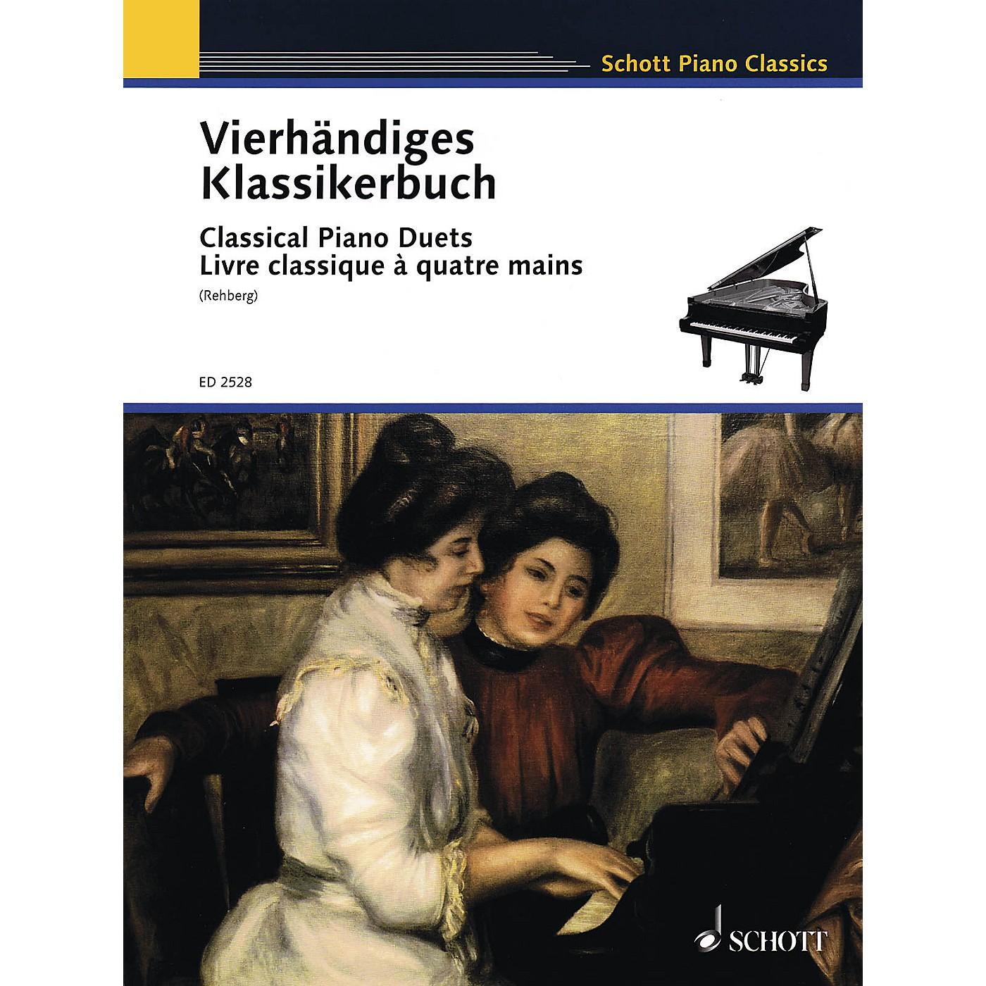 Schott Classical Piano Duets (Easy Original Piano Duets) Schott Series thumbnail