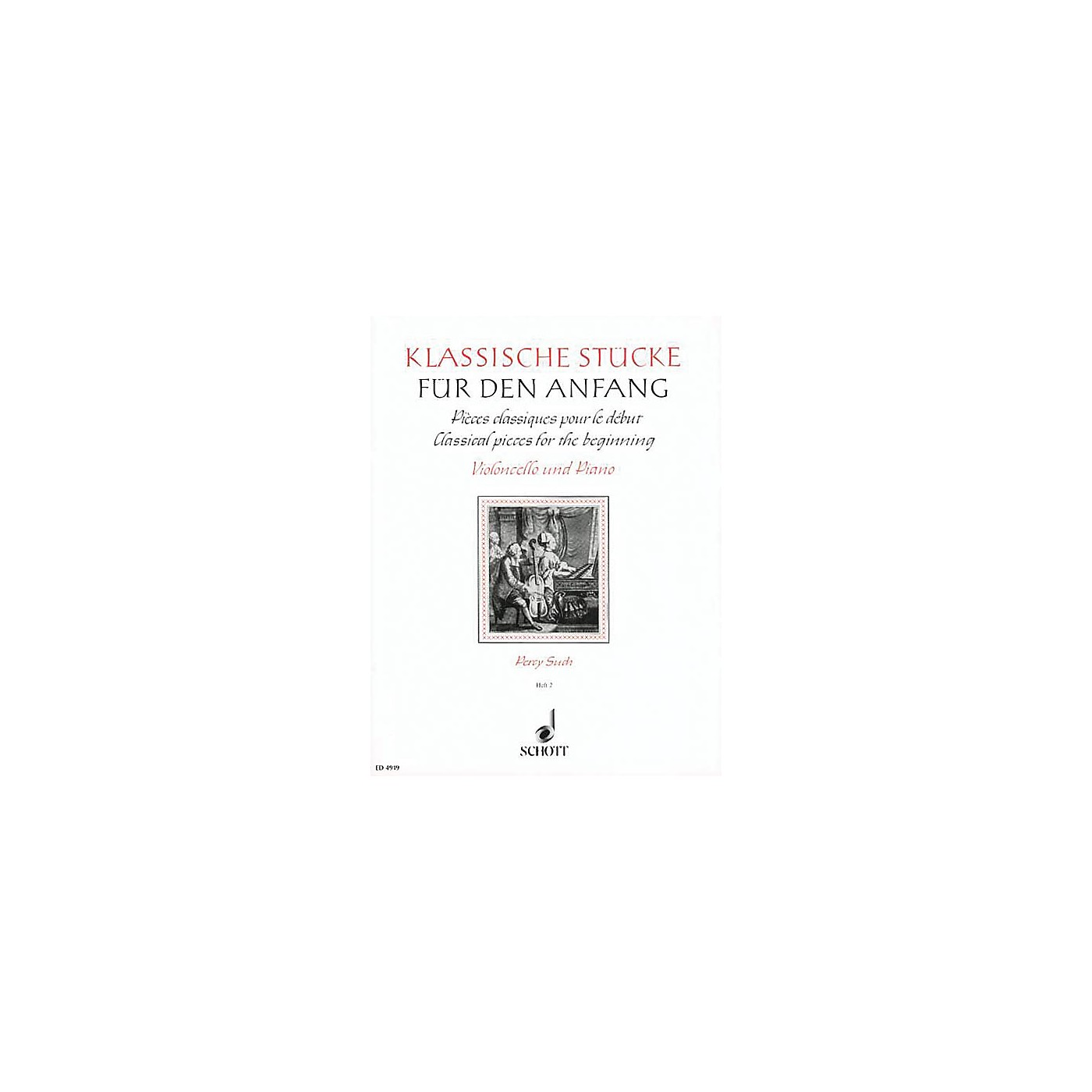 Schott Classical Pieces for the Beginner - Volume 2 (Violoncello and Piano) Schott Series thumbnail