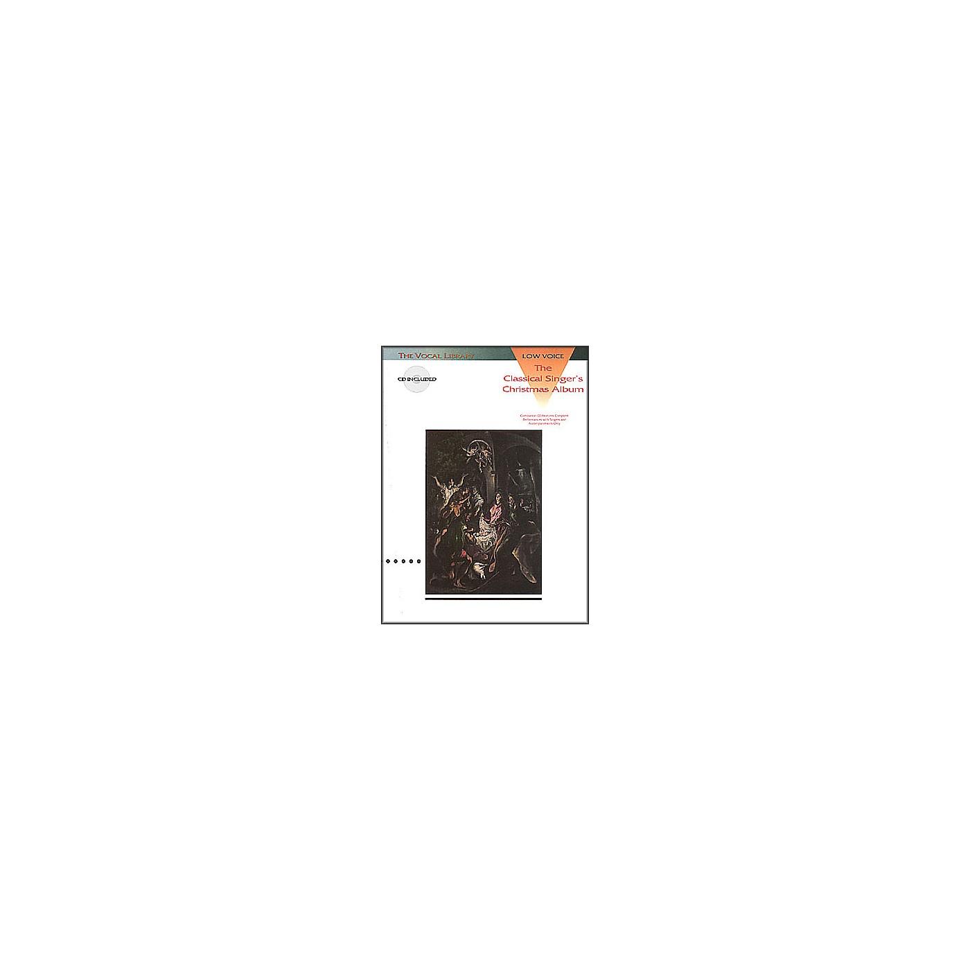 Hal Leonard Classical Singers Christmas Album for Low Voice Book/CD thumbnail