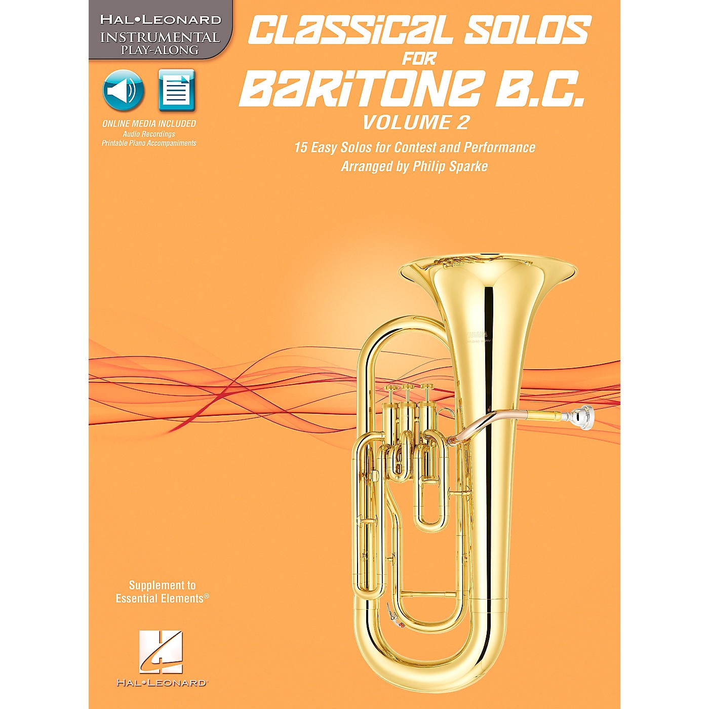 Hal Leonard Classical Solos for Baritone B.C., Vol. 2 Instrumental Folio Series Softcover with CD thumbnail