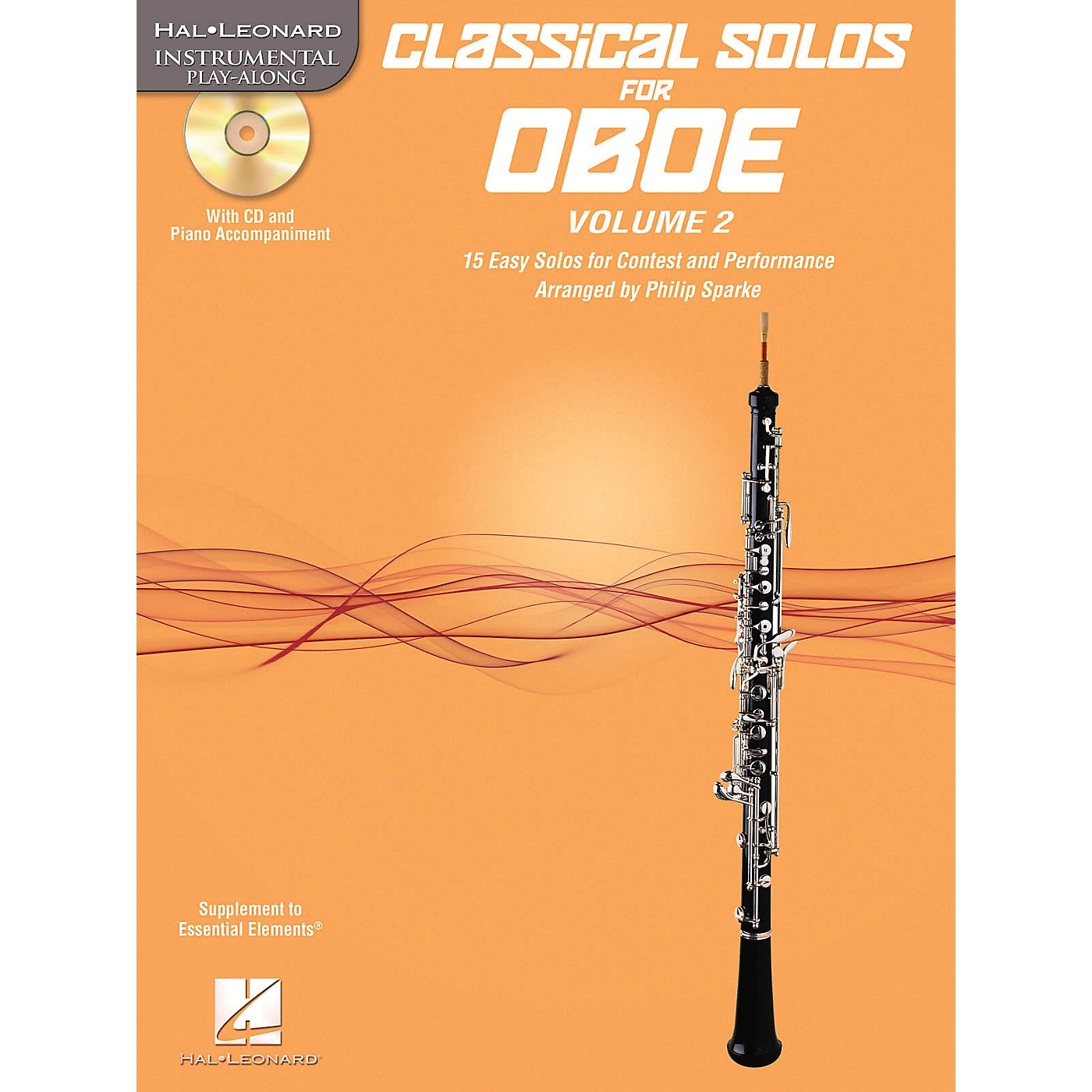 Hal Leonard Classical Solos for Oboe, Vol. 2 Instrumental Folio Series BK/CD thumbnail