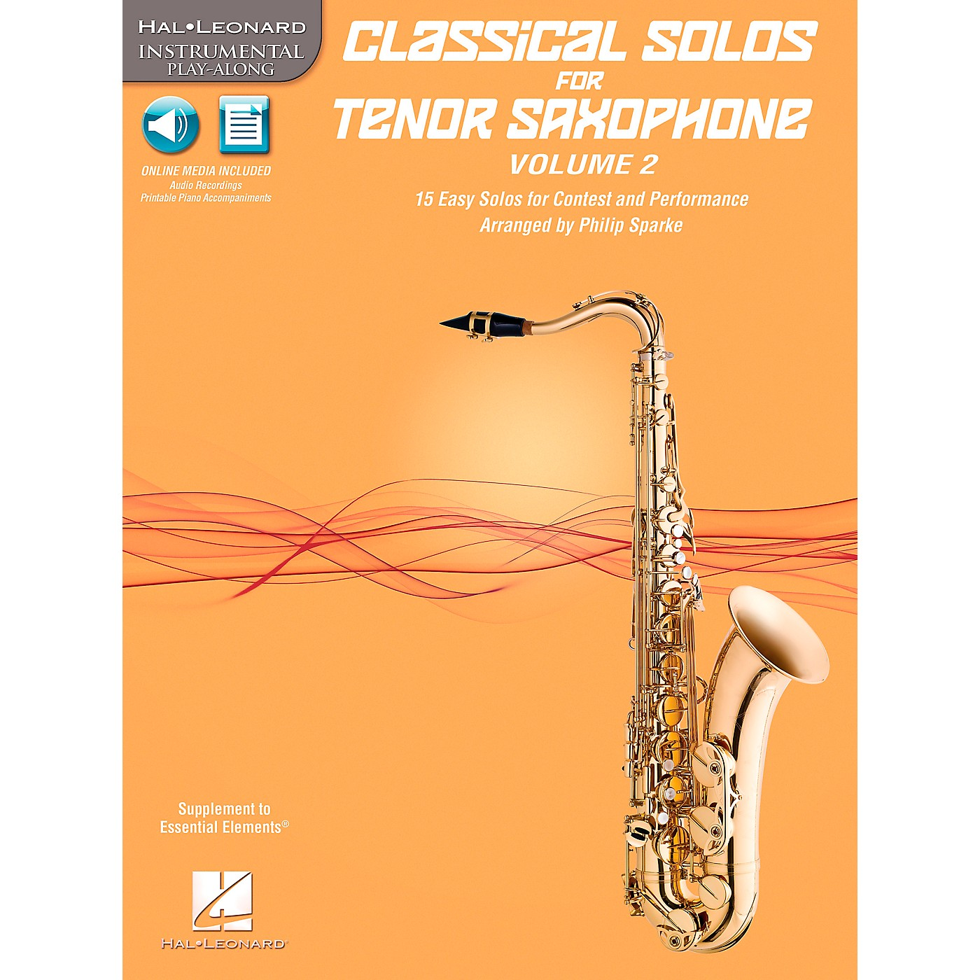 Hal Leonard Classical Solos for Tenor Saxophone, Vol. 2 Instrumental Folio Series Book with CD thumbnail
