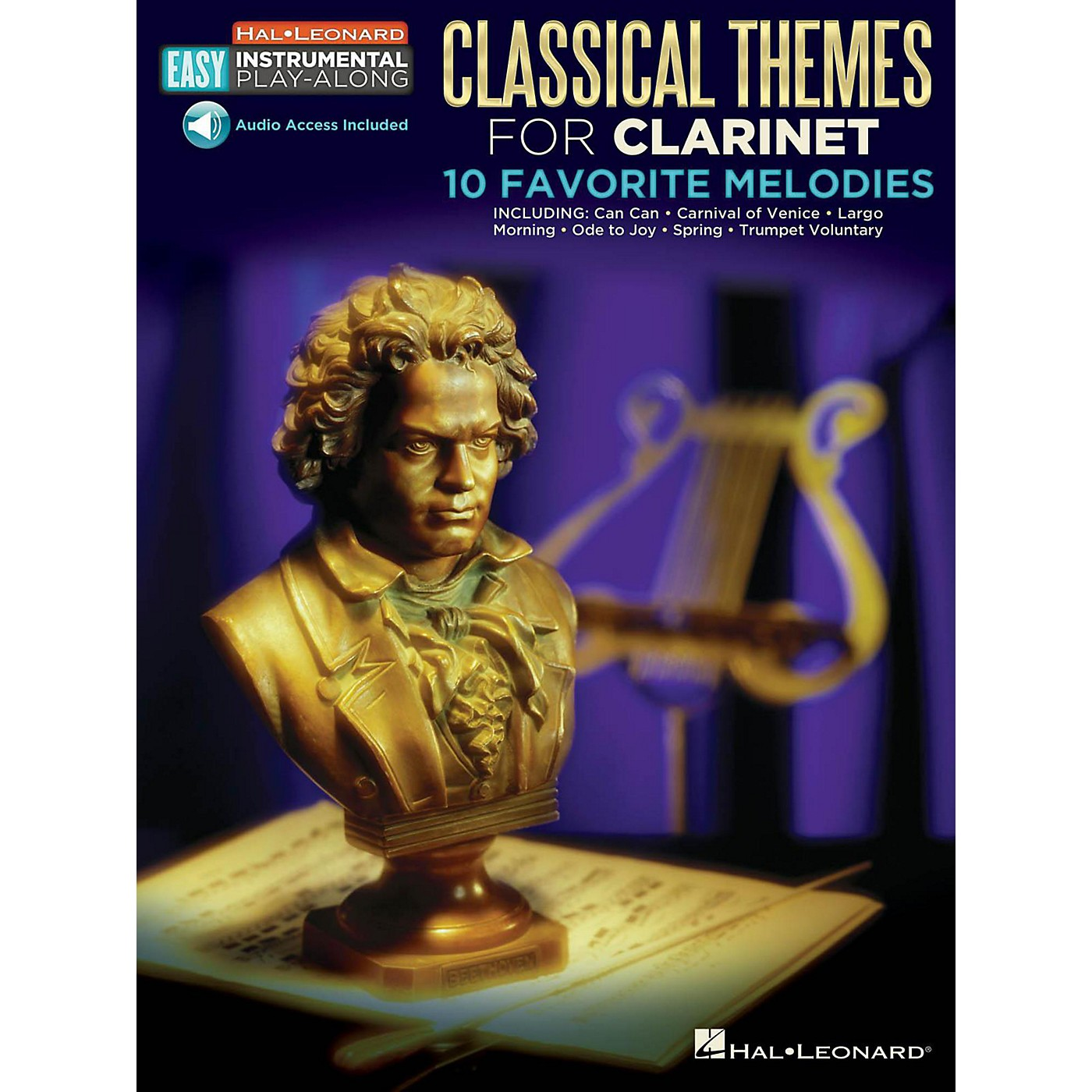 Hal Leonard Classical Themes - Clarinet - Easy Instrumental Play-Along Book with Online Audio Tracks thumbnail
