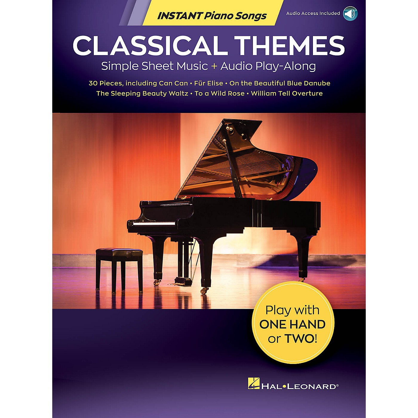 Hal Leonard Classical Themes - Instant Piano Songs - Simple Sheet Music Audio Play-Along Book/Audio Online thumbnail
