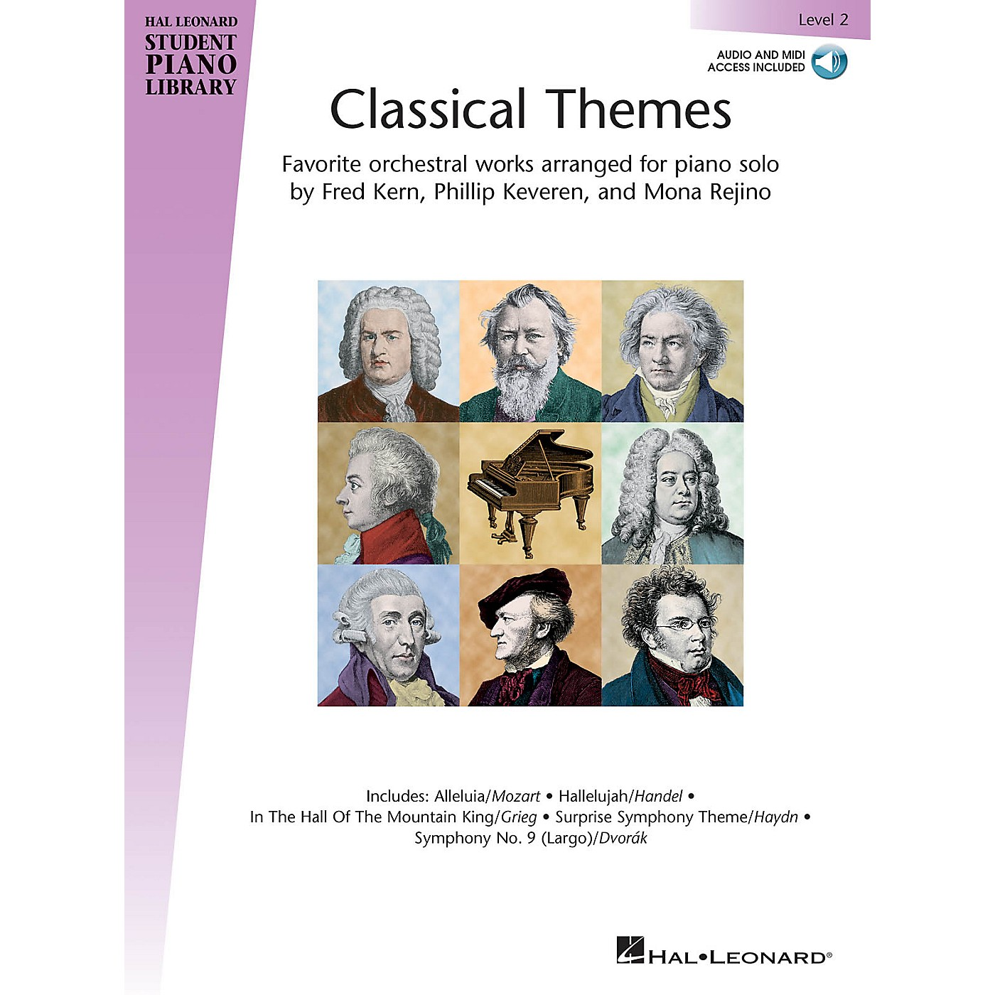 Hal Leonard Classical Themes - Level 2 Piano Library Series Book Audio Online thumbnail