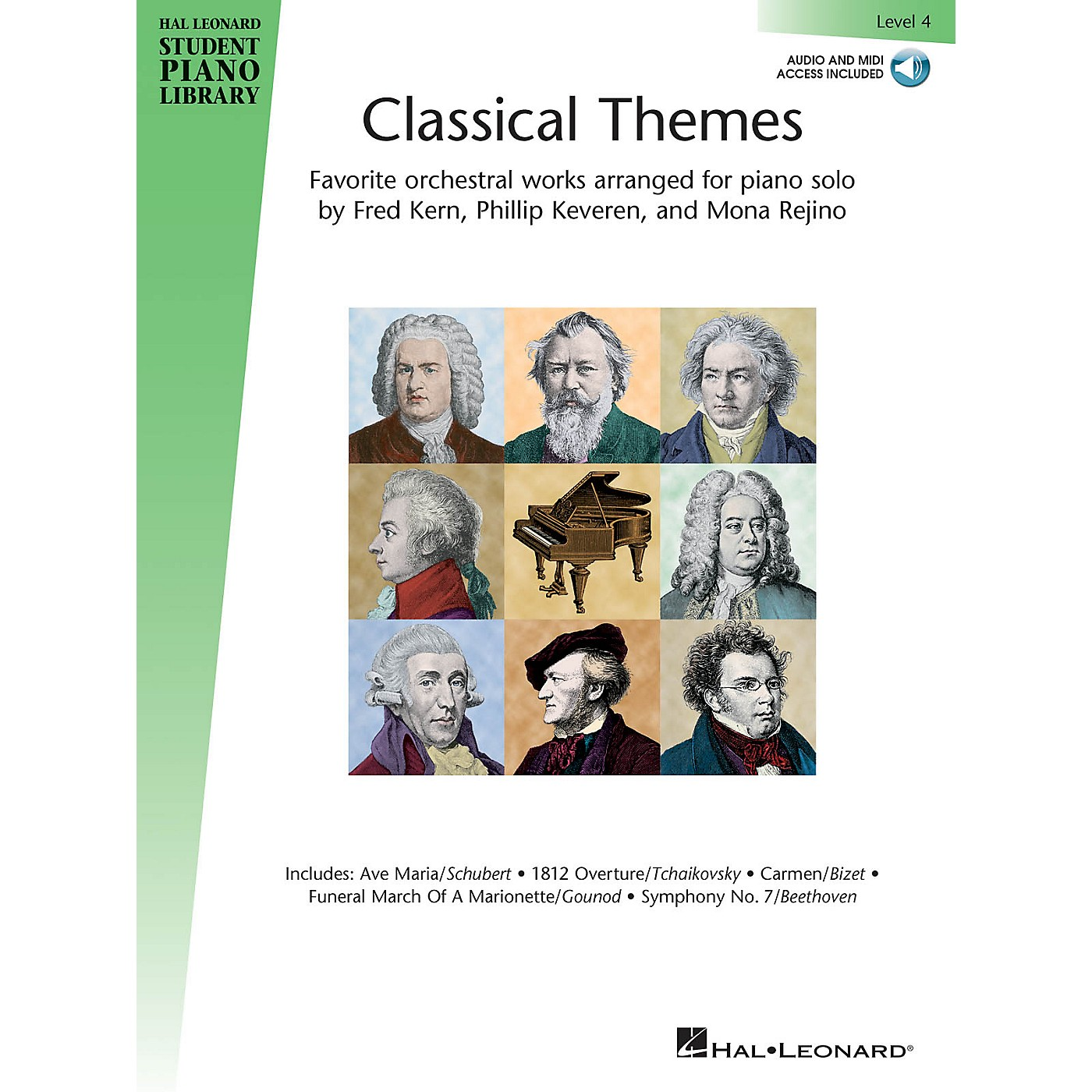 Hal Leonard Classical Themes - Level 4 Piano Library Series Book Audio Online thumbnail