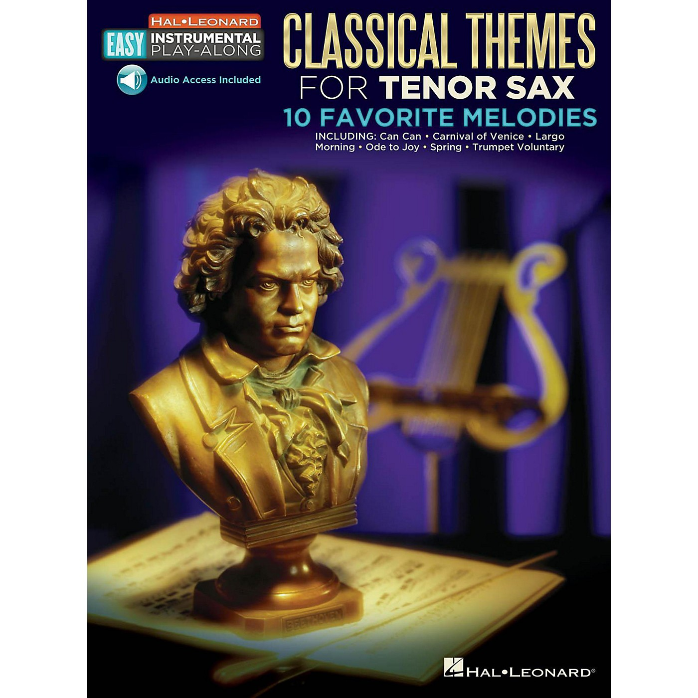 Hal Leonard Classical Themes - Tenor Sax -Easy Instrumental Play-Along Book with Online Audio Tracks thumbnail