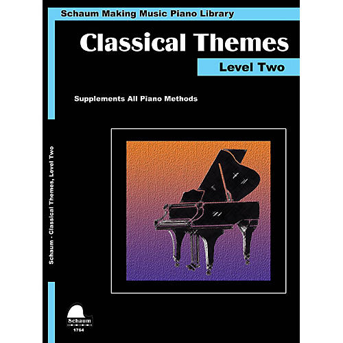 SCHAUM Classical Themes Level 2 (Schaum Making Music Piano Library) Educational Piano Book (Level Late Elem) thumbnail