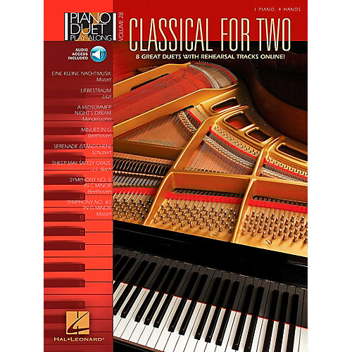 Hal Leonard Classical for Two Piano Duet Play-Along Volume 28 Book/CD thumbnail
