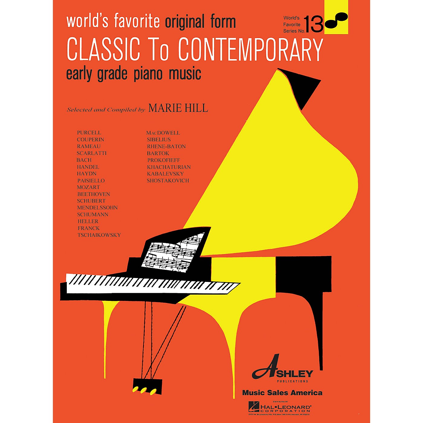 Ashley Publications Inc. Classical to Contemporary Piano Music World's Favorite (Ashley) Series Softcover thumbnail