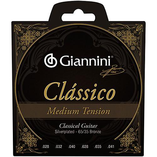 Giannini Classico Medium Tension Silverplated 65/35 Bronze Nylon Strings thumbnail