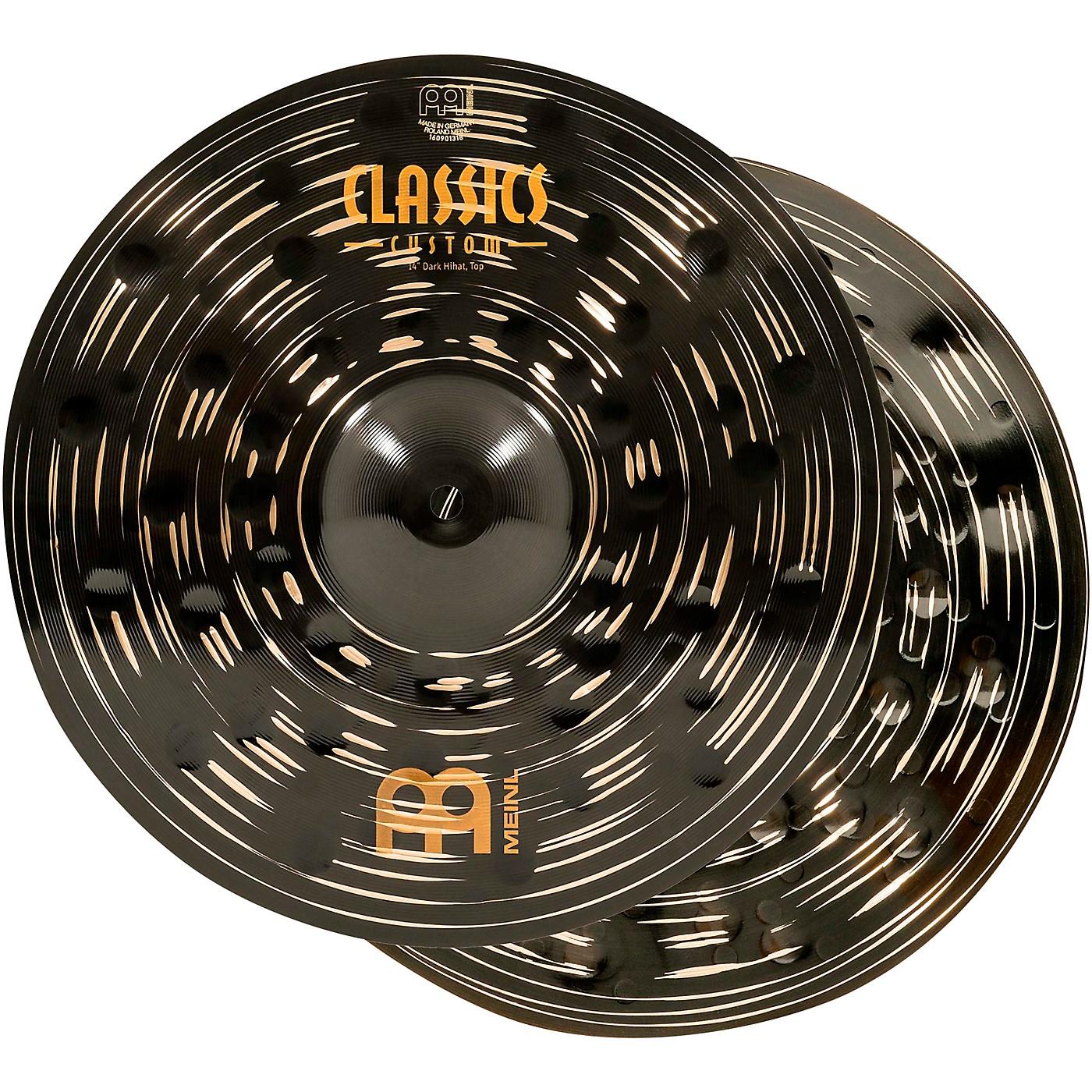 Meinl Classics Custom Dark Hi-Hat Cymbal Pair thumbnail