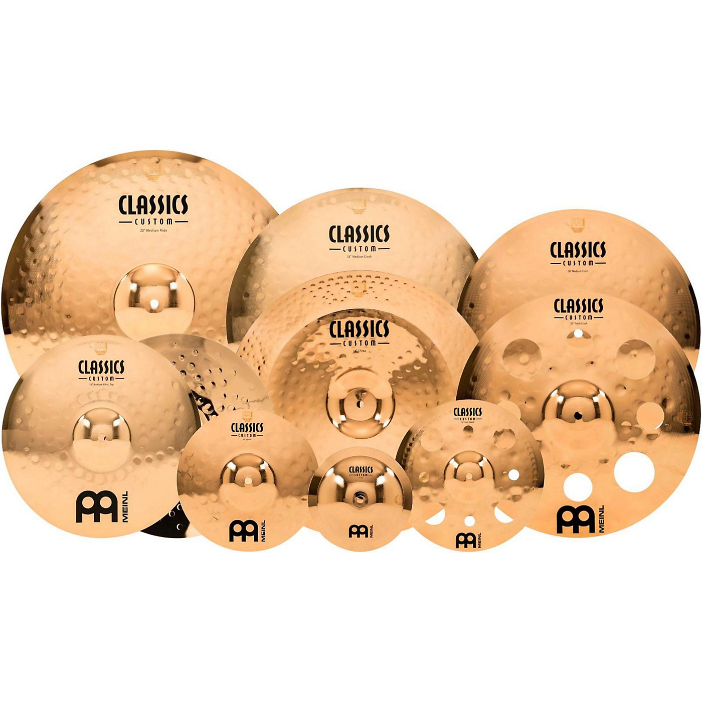Meinl Classics Custom Triple Bonus Pack Cymbal Box Set with FREE 8