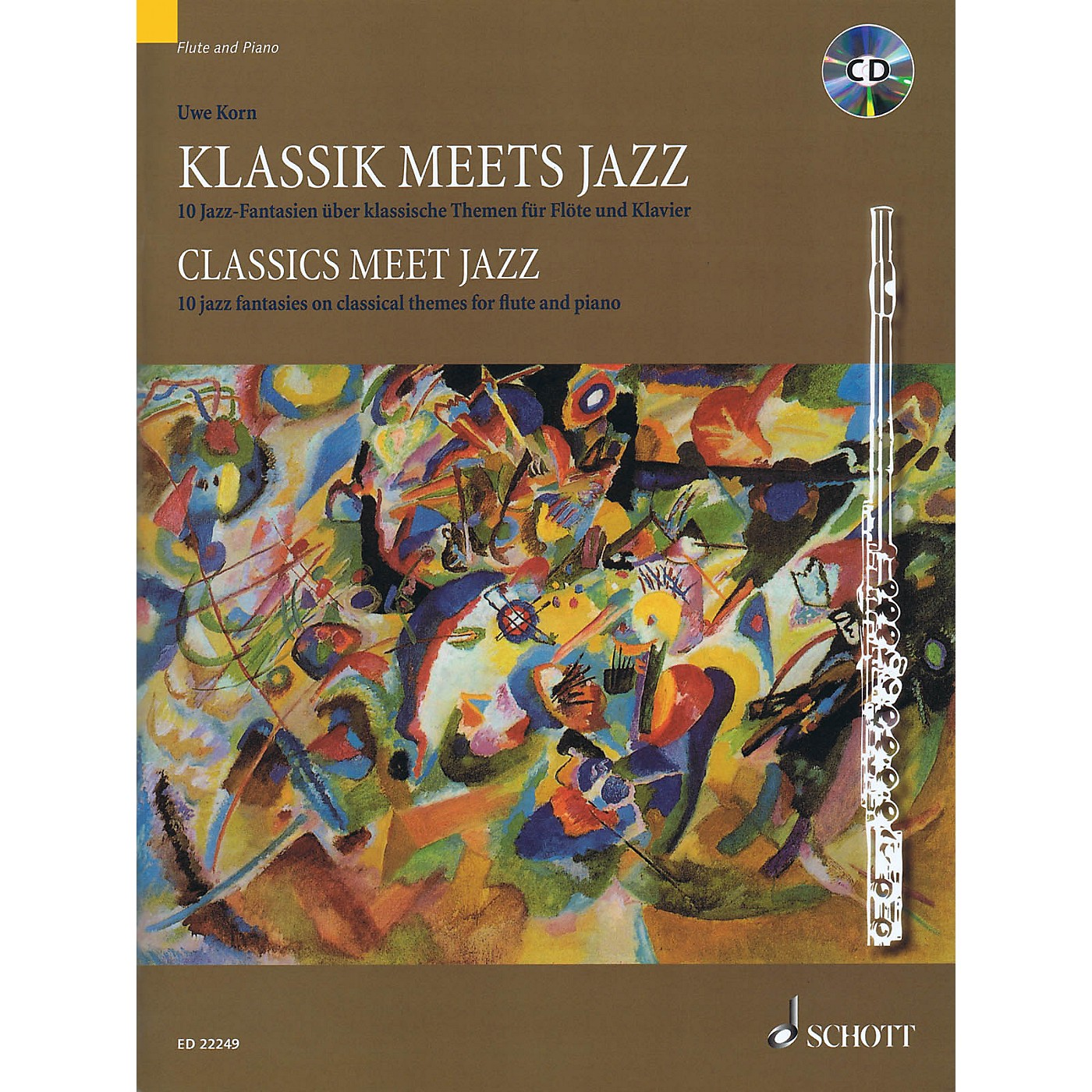 Schott Classics Meet Jazz: 10 Jazz Fantasies on Classical Themes for Flute and Piano Woodwind Solo Softcover with CD thumbnail
