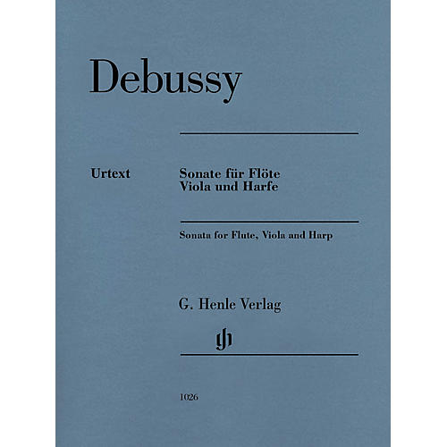 G. Henle Verlag Claude Debussy - Sonata for Flute, Viola and Harp Henle Music by Claude Debussy Edited by Peter Jost thumbnail
