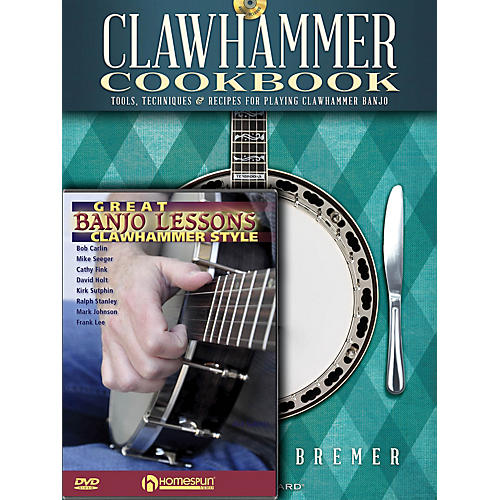 Homespun Clawhammer Banjo Pack Homespun Tapes Series Softcover with DVD Written by Michael Bremer thumbnail
