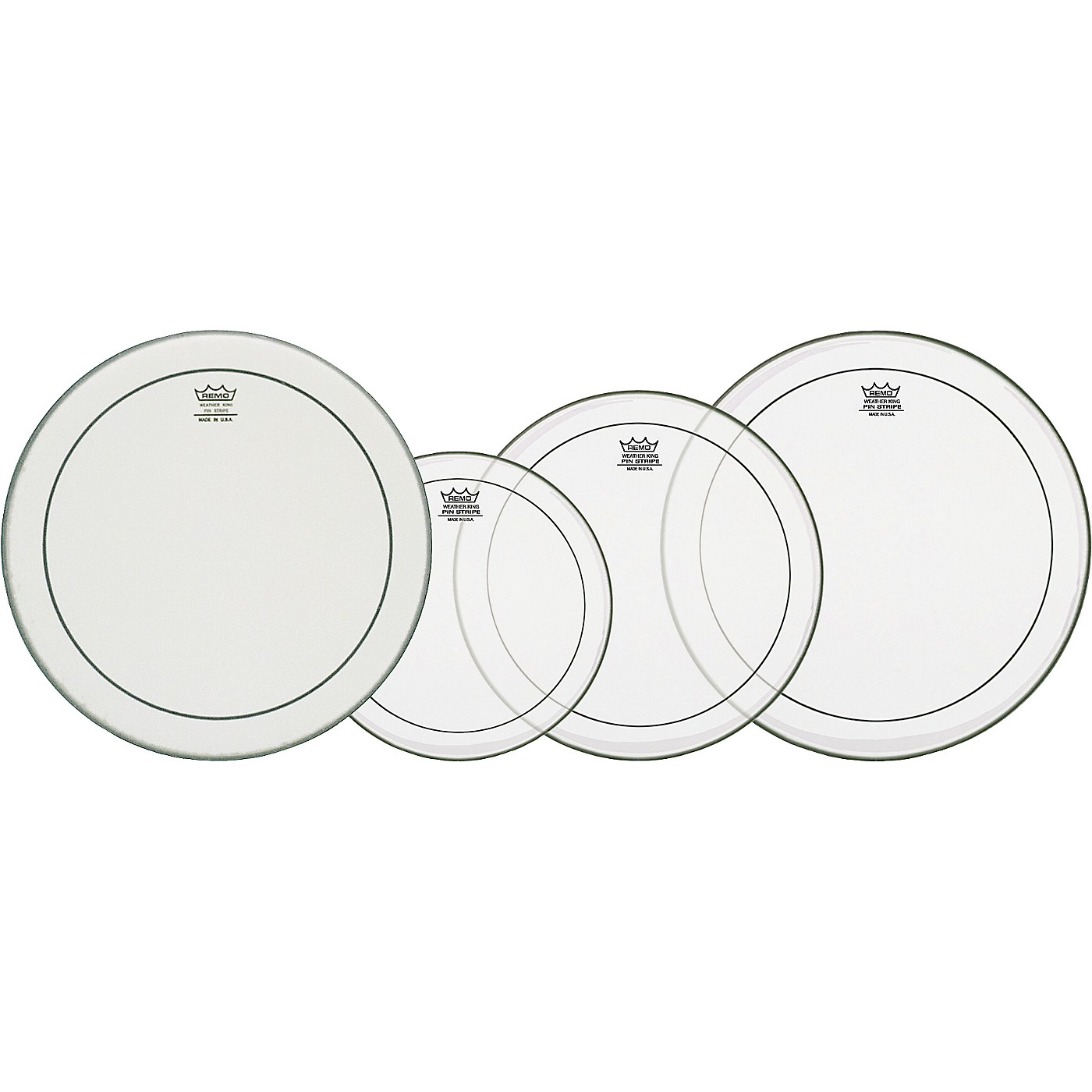 Remo Clear Pinstripe Fusion Pro Pack with Free 14 in. Powerstroke 3 Snare Drum Head thumbnail