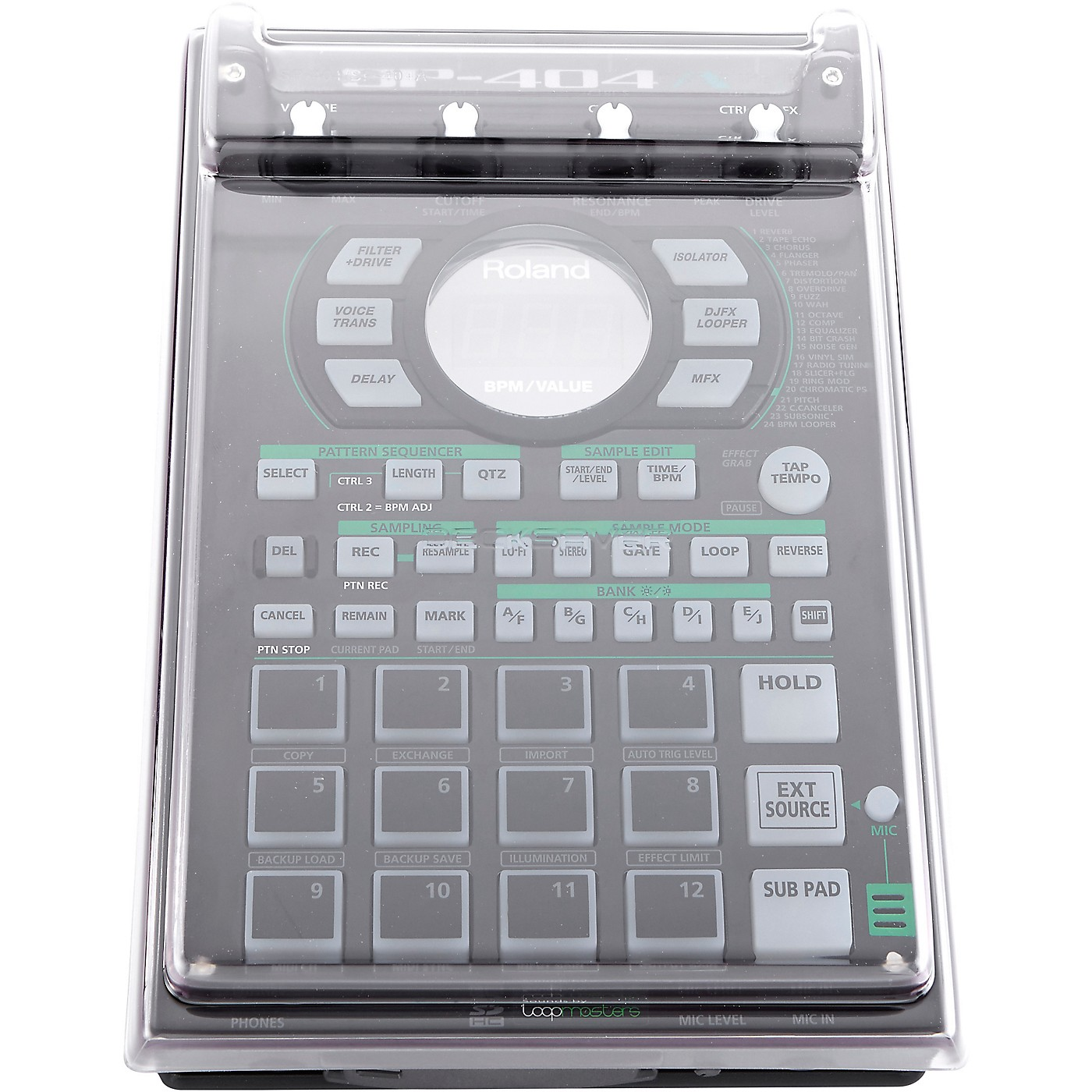 Decksaver Clear Polycarbonate Cover for Roland SP404, SP404A and SP404SX thumbnail