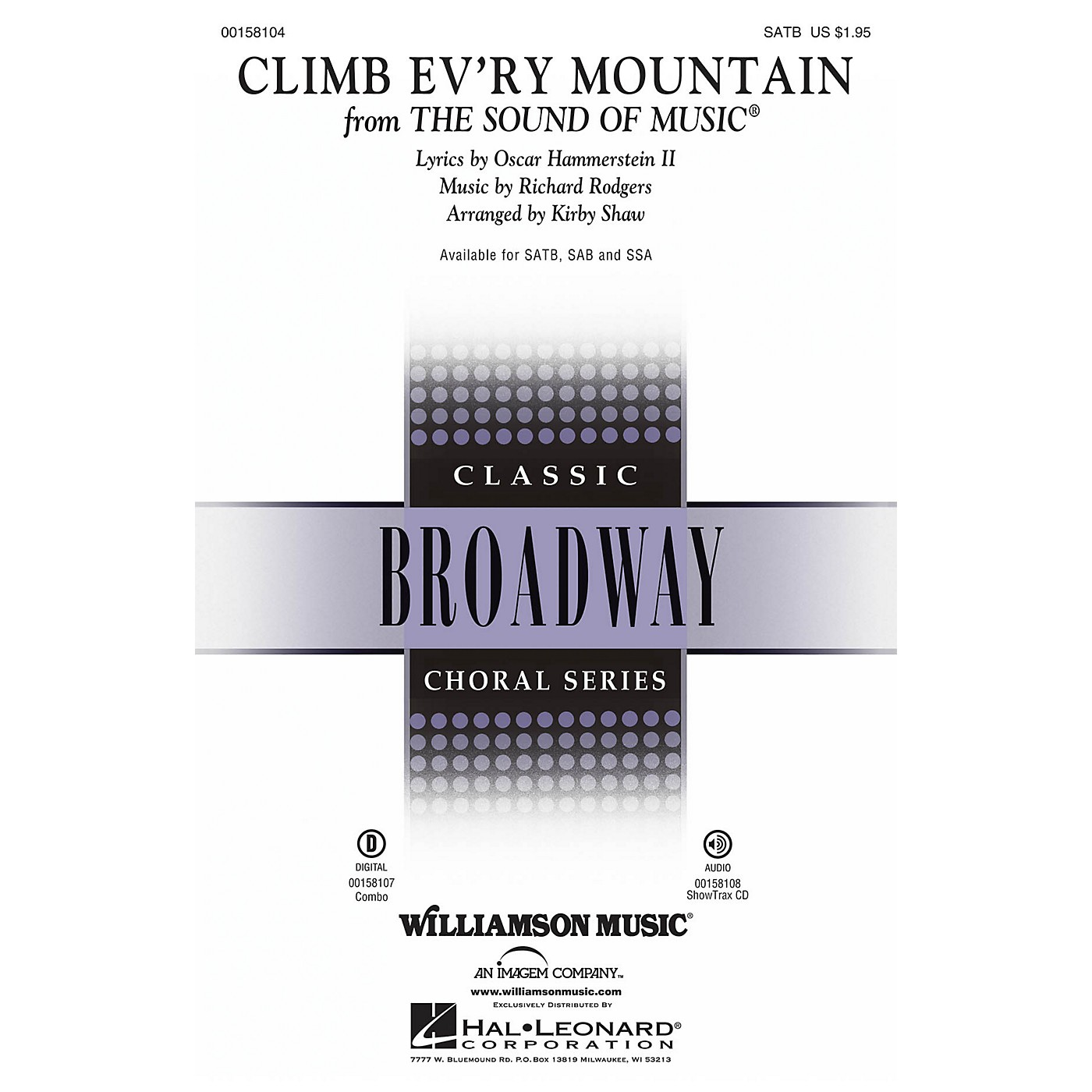 Hal Leonard Climb Ev'ry Mountain (from The Sound of Music) SAB Arranged by Kirby Shaw thumbnail