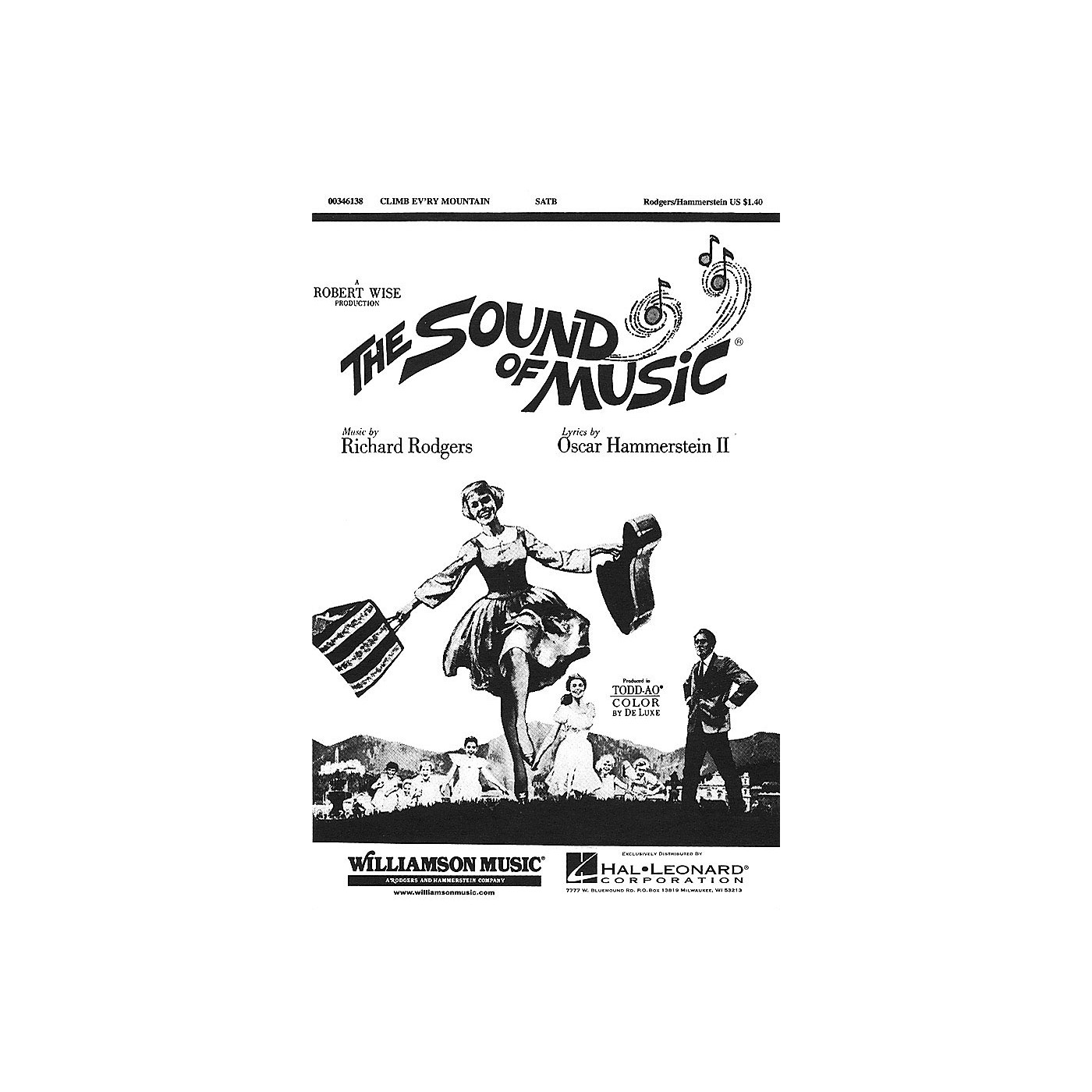 Hal Leonard Climb Ev'ry Mountain (from The Sound of Music) SATB arranged by Charles Smith thumbnail