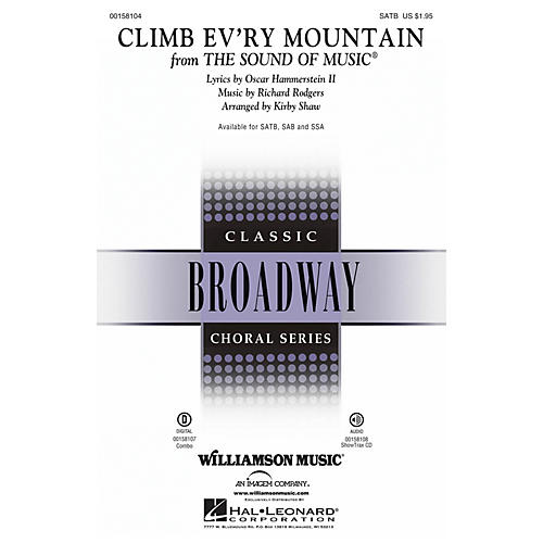 Hal Leonard Climb Ev'ry Mountain (from The Sound of Music) SATB arranged by Kirby Shaw thumbnail