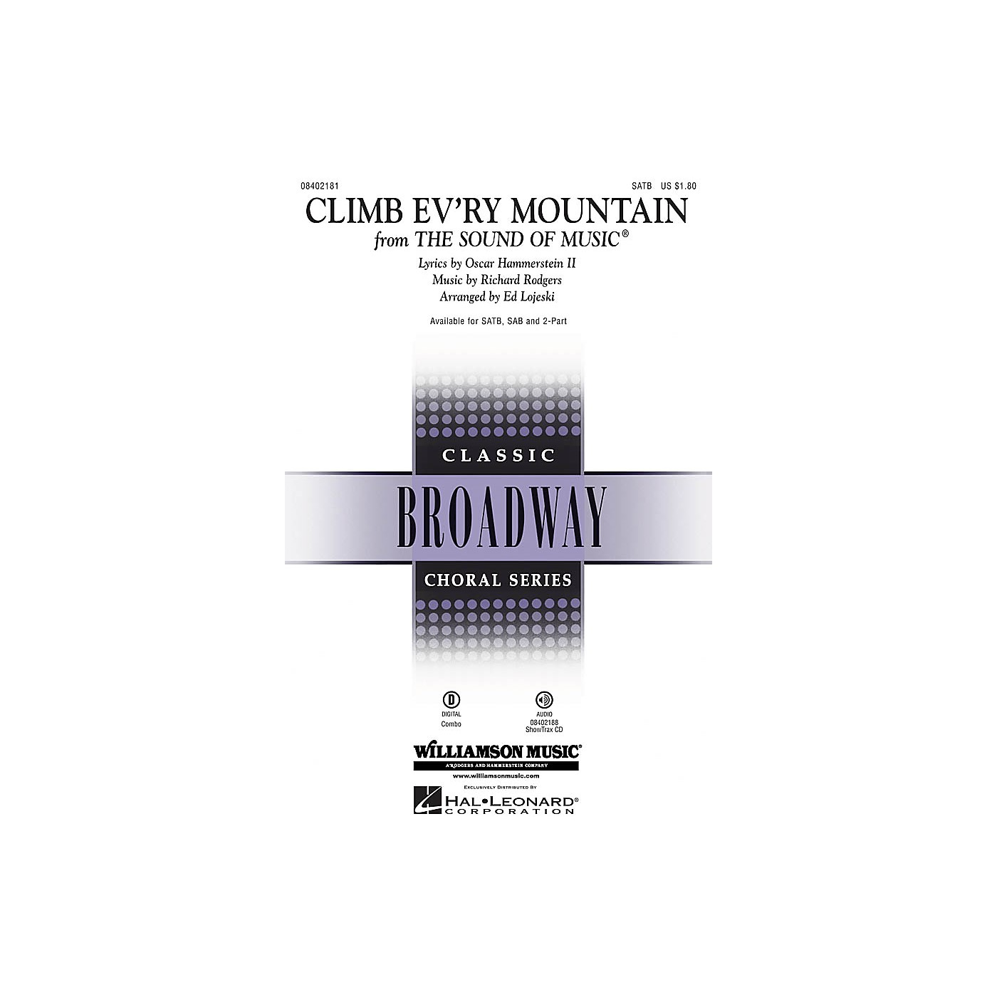 Hal Leonard Climb Ev'ry Mountain (from The Sound of Music) ShowTrax CD Arranged by Ed Lojeski thumbnail