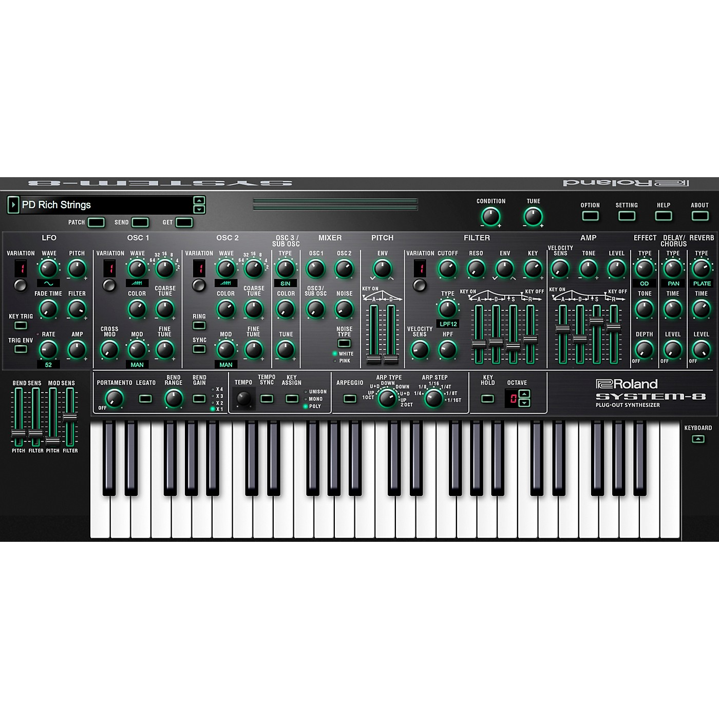 Roland Cloud Cloud SYSTEM-8 Software Synthesizer (Download) thumbnail