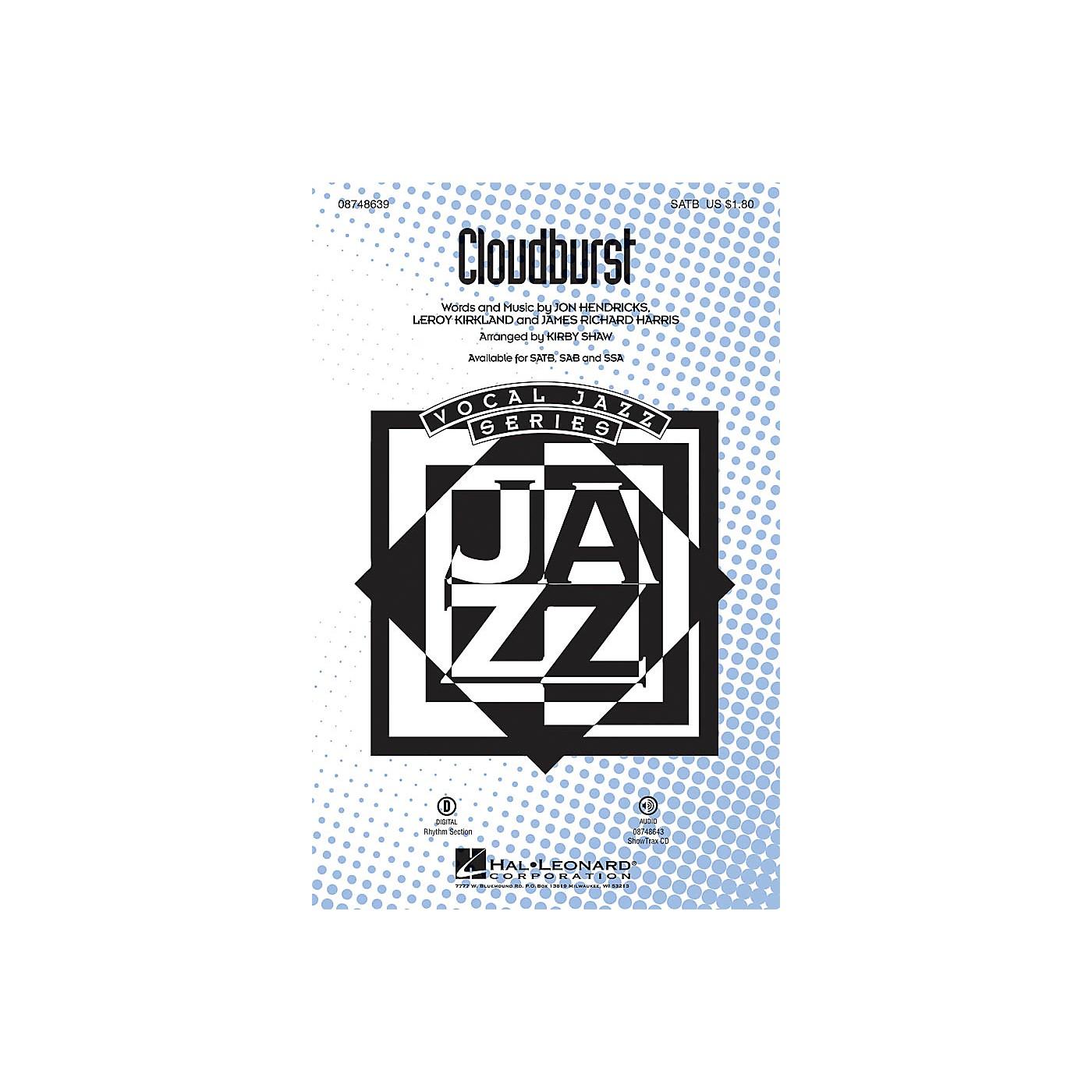 Hal Leonard Cloudburst SAB Arranged by Kirby Shaw thumbnail