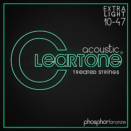 Cleartone Coated Phosphor-Bronze Ultra Light Acoustic Guitar Strings-thumbnail