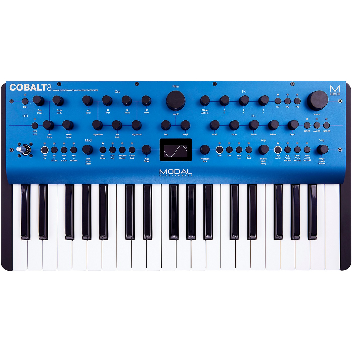 Modal Electronics Limited Cobalt8 37-Key 8 Voice Extended Virtual Analog Synthesizer thumbnail