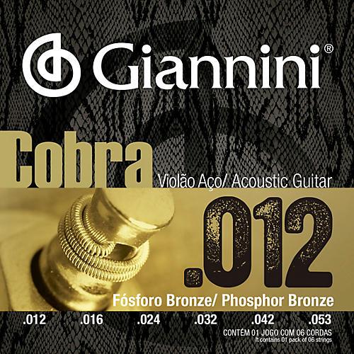 Giannini Cobra Series Phosphor Bronze Light .12-.53 Acoustic Guitar Strings thumbnail