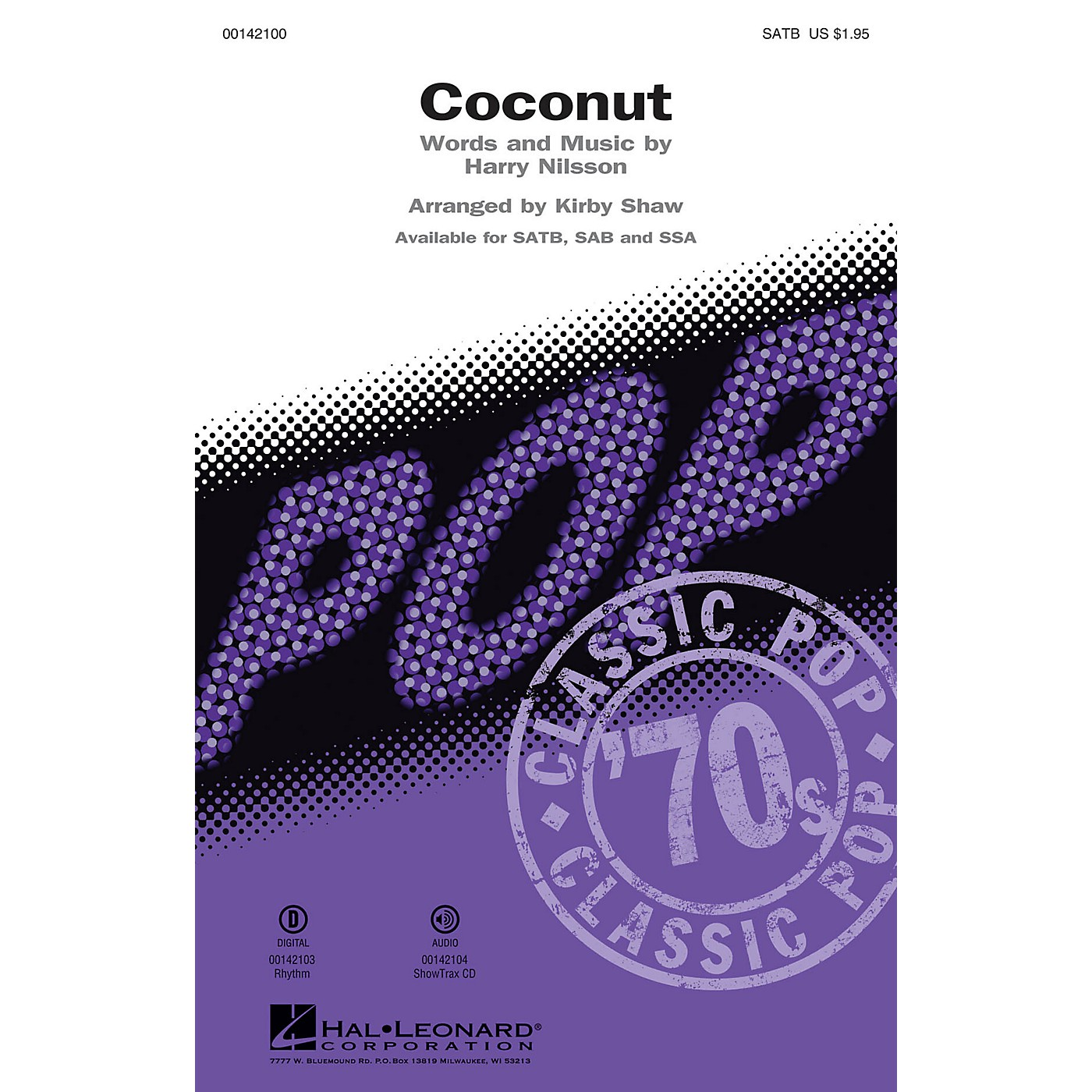Hal Leonard Coconut SATB by Harry Nilsson arranged by Kirby Shaw thumbnail