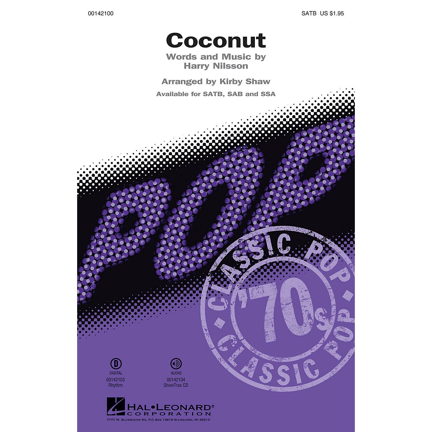 Hal Leonard Coconut (ShowTrax CD) ShowTrax CD Arranged by Kirby Shaw thumbnail