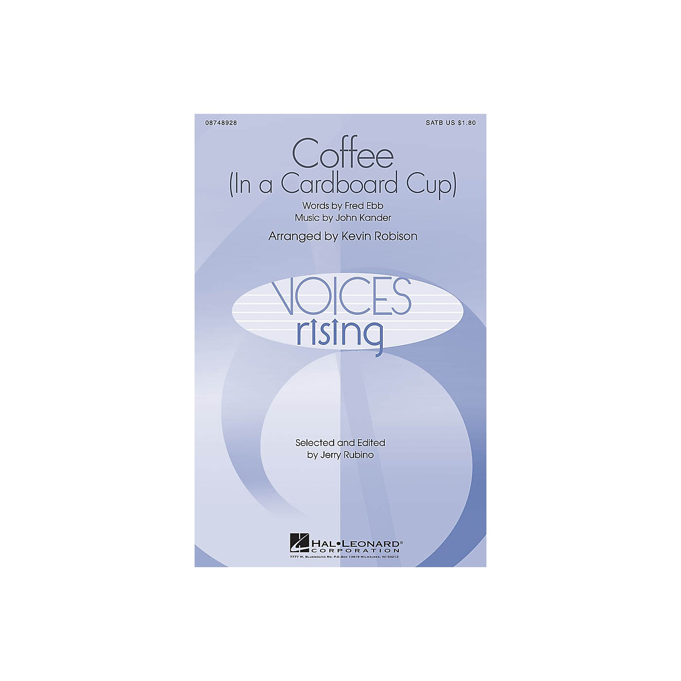 Hal Leonard Coffee (In a Cardboard Cup) TTBB Arranged by Kevin Robison thumbnail