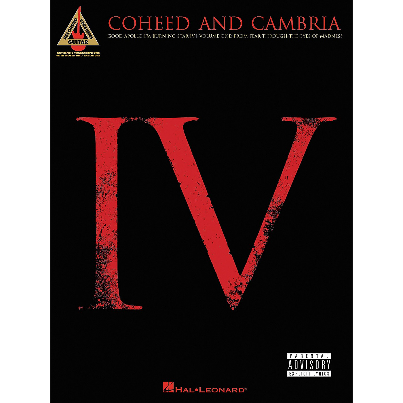 Hal Leonard Coheed and Cambria Good Apollo I'm Burning Star IV Volume 1 Guitar Tab Songbook thumbnail