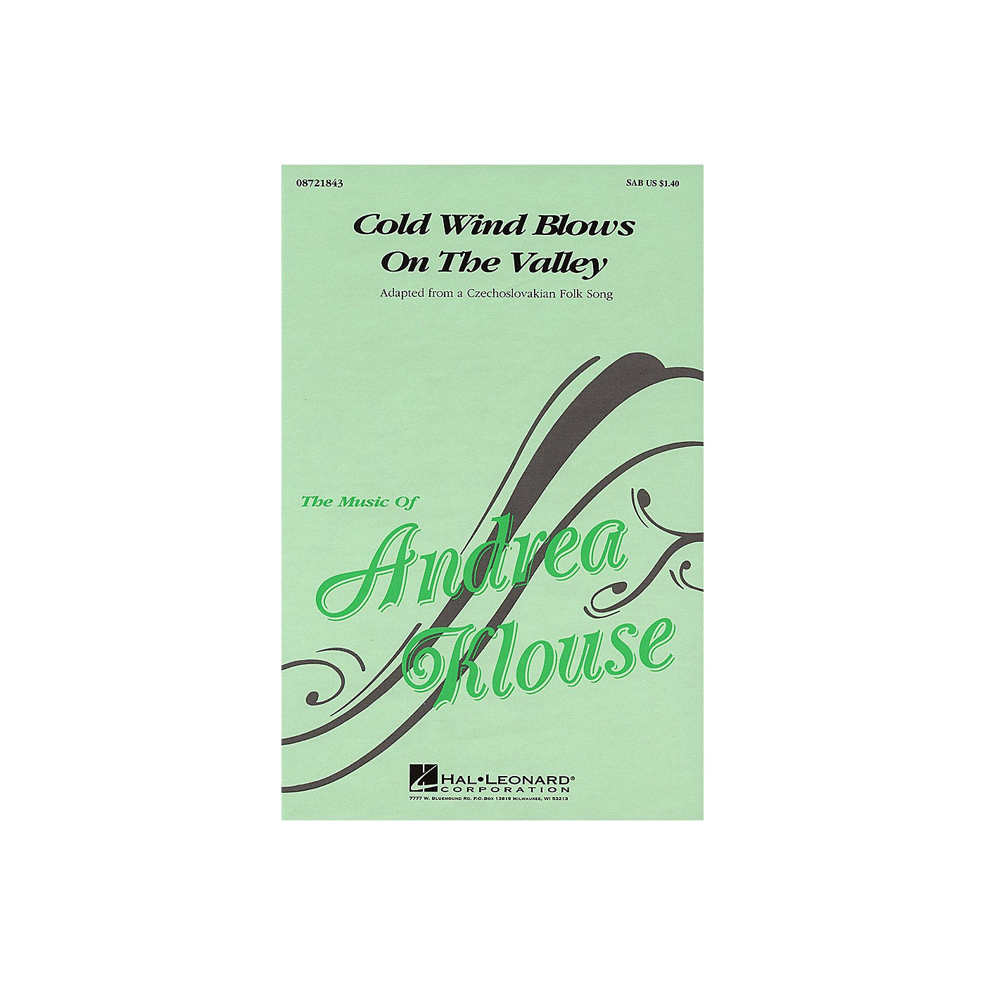 Hal Leonard Cold Wind Blows on the Valley SAB arranged by Andrea Klouse thumbnail