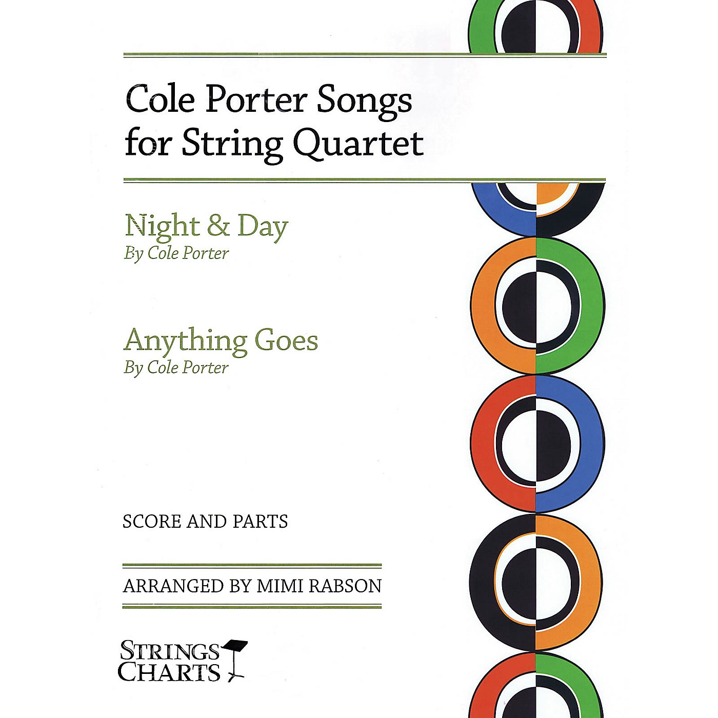 String Letter Publishing Cole Porter Songs for String Quartet: Night & Day and Anything Goes Slick Wrap by Mimi Rabson thumbnail
