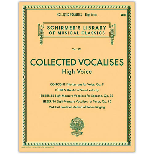 G. Schirmer Collected Vocalises: High Voice - Concone, Lutgen, Sieber, Vaccai thumbnail