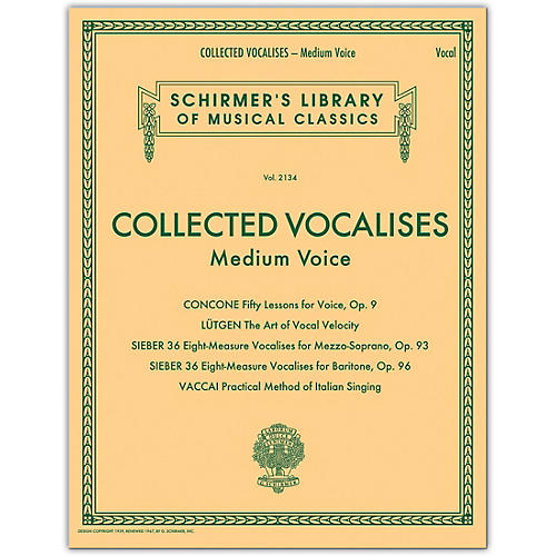 G. Schirmer Collected Vocalises: Medium Voice - Concone, Lutgen, Sieber, Vaccai thumbnail