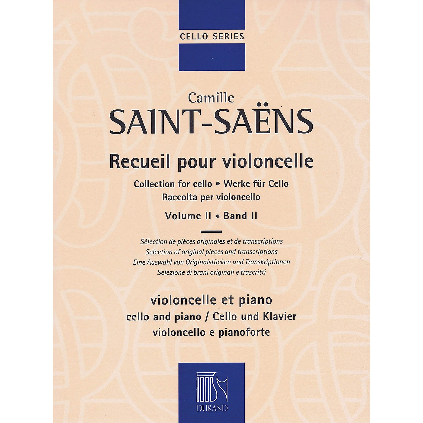 Durand Collection for Cello - Volume 2 MGB Series Softcover thumbnail
