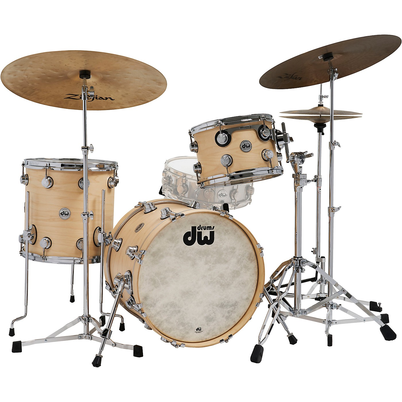 DW Collector's Series 3-Piece Satin Oil Shell Pack with Chrome Hardware thumbnail