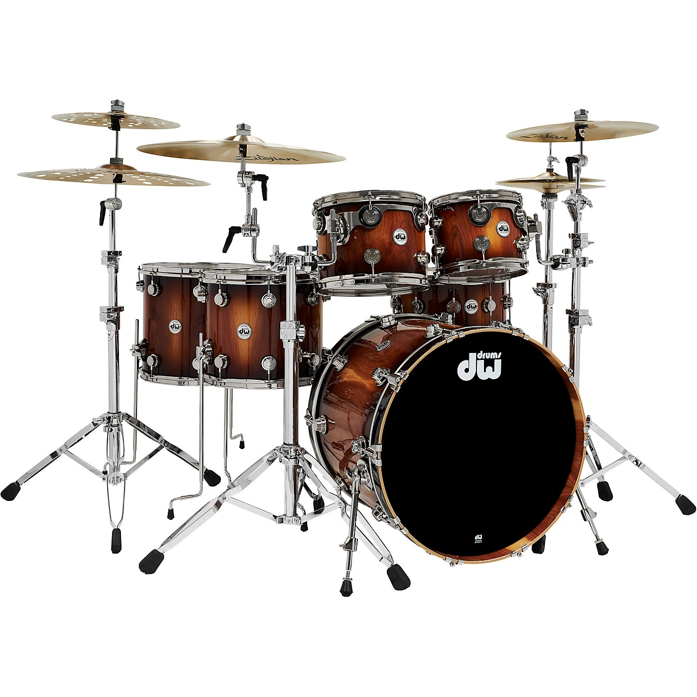 DW Collector's Series Pure Almond 5-Piece Shell Pack with Nickel Hardware, Toasted Almond Burst thumbnail