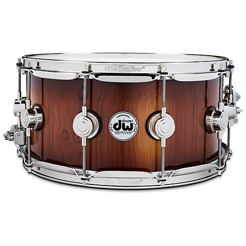 DW Collector's Series Pure Almond Snare Drum with Nickel Hardware, Toasted Almond Burst thumbnail