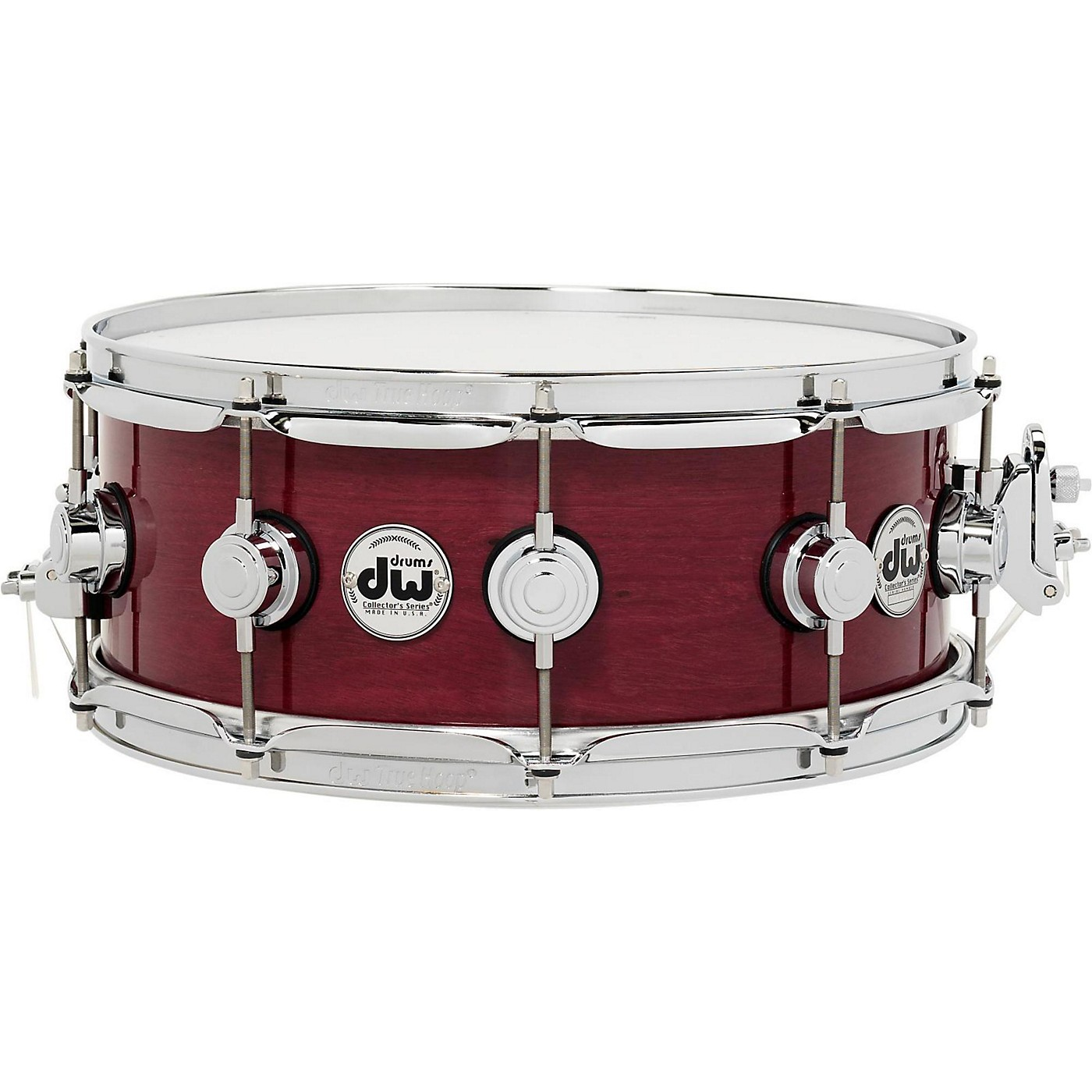 DW Collector's Series Purpleheart Lacquer Custom Snare Drum with Chrome Hardware thumbnail