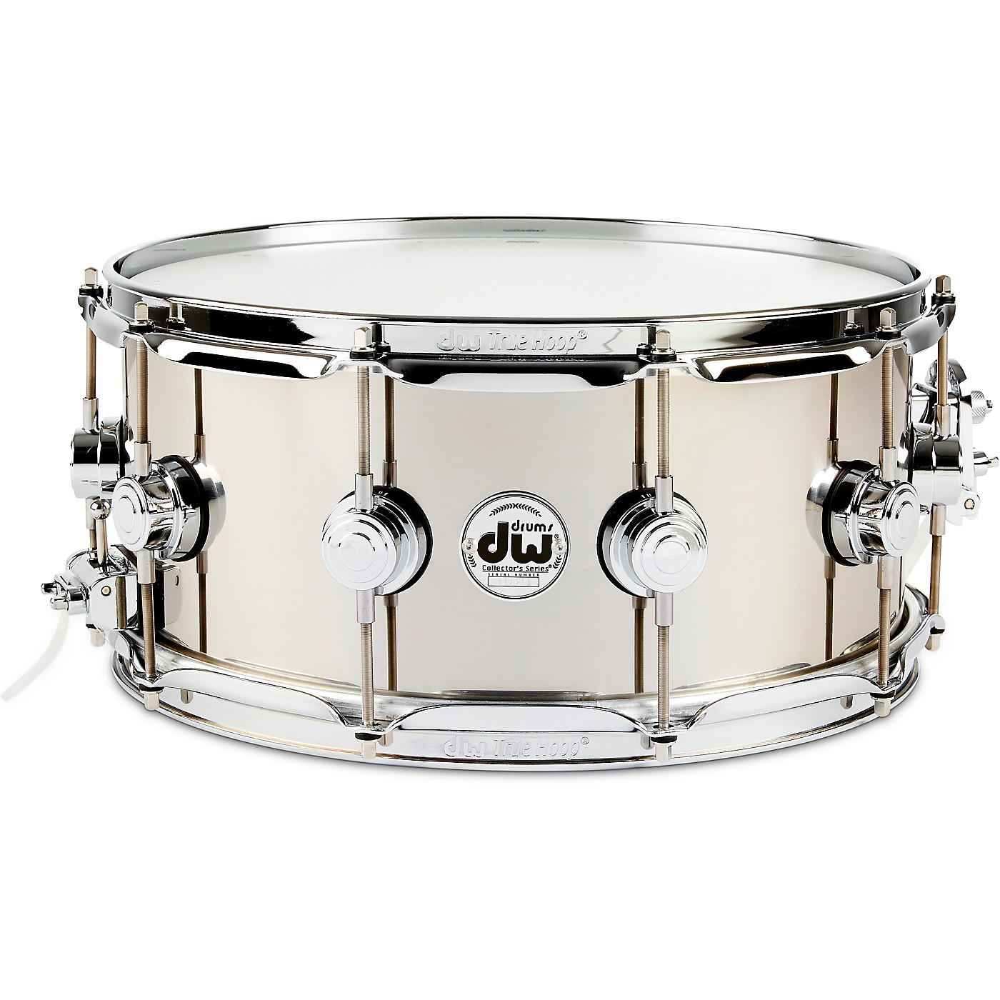 DW Collector's Series Stainless Steel Snare Drum with Chrome Hardware thumbnail