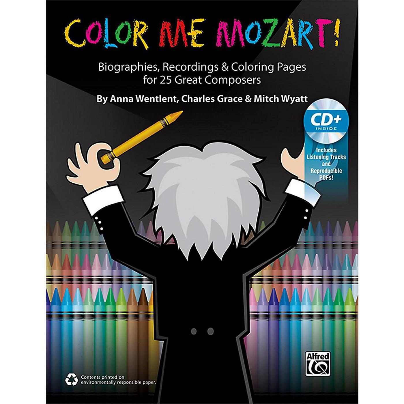 Alfred Color Me Mozart! 100% Reproducible Book & Enhanced CD thumbnail